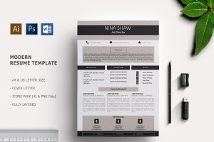 Black Star Resume Template