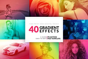 40 Gradient Photoshop Actions