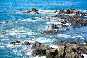 Sea and rocks in the coast