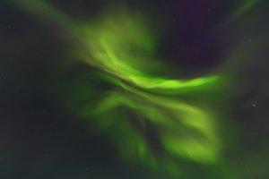 Bright aurora borealis