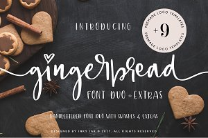 Gingerbread Font Duo + 9 Logos
