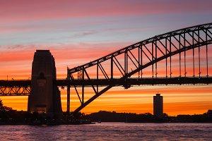 Harbour Bridge Siluette