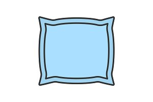 Pillow color icon