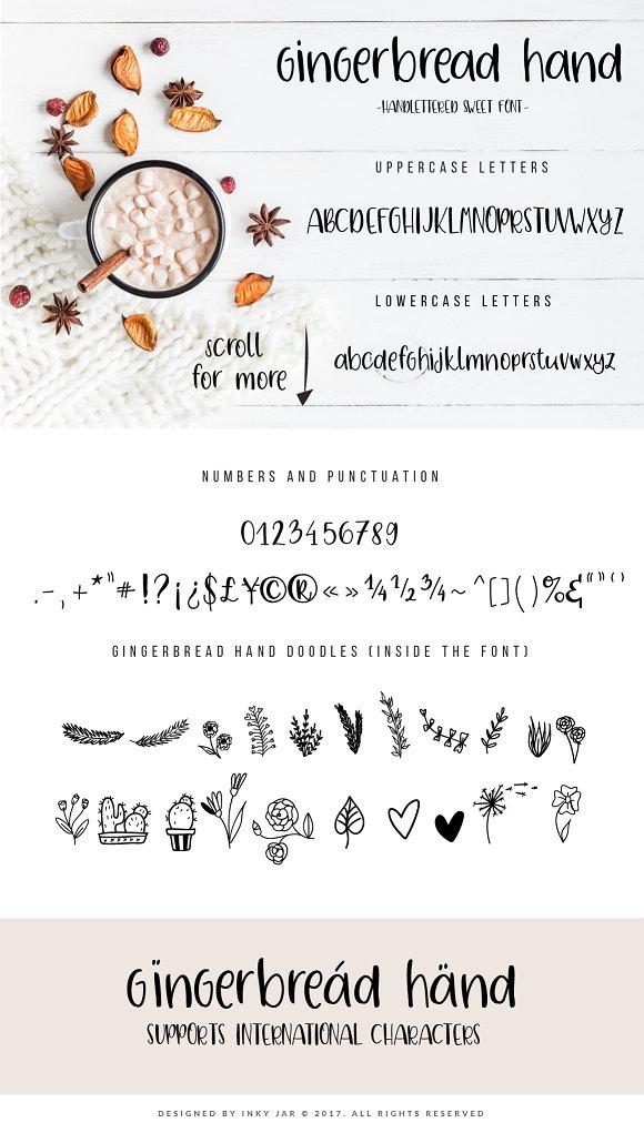 Gingerbread font duo 9 logos script fonts creative market maxwellsz