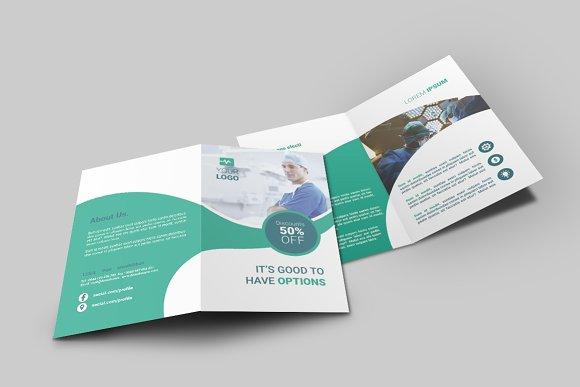 Medicine Bi-Fold Brochure-Graphicriver中文最全的素材分享平台
