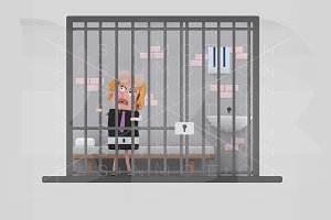 Girl in jail