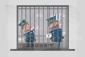 Policemen in prison