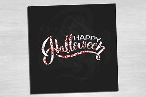 Card with Lettering for Halloween