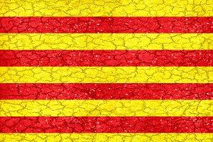 Catalunya Grunge Style Flag