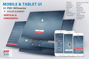 Mobile and Tablet UX UI kit