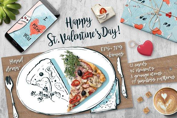Happy St. Valentine's Day.-Graphicriver中文最全的素材分享平台