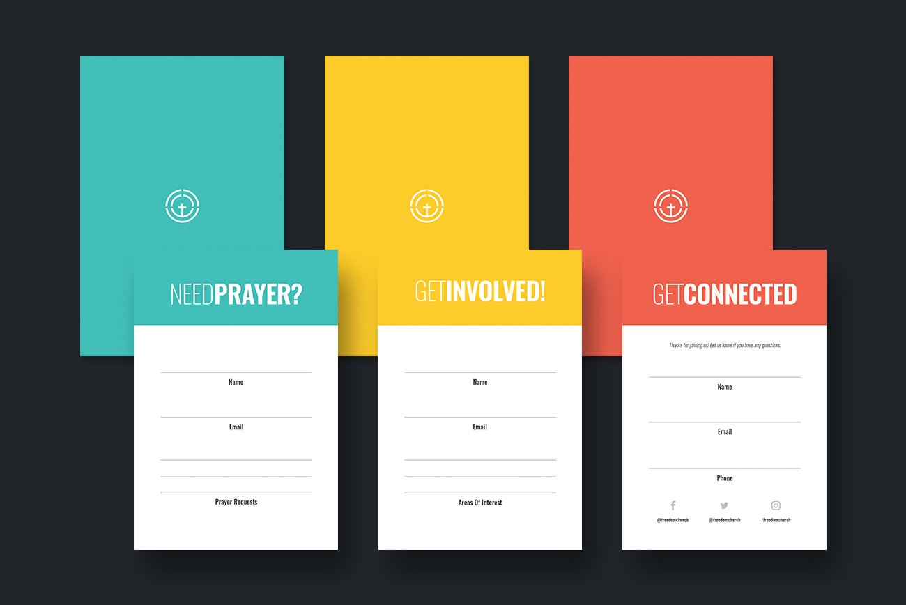 Church Connection Cards Pack With Church Visitor Card Template Word