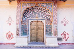 Peacock Gate in Jaipur City Palace