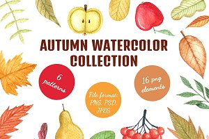 Watercolor autumn collection