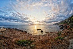 Sunrise at Denia shore