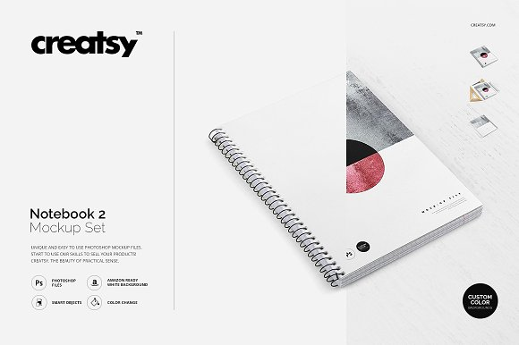 Download Notebook 2 Mockup Set