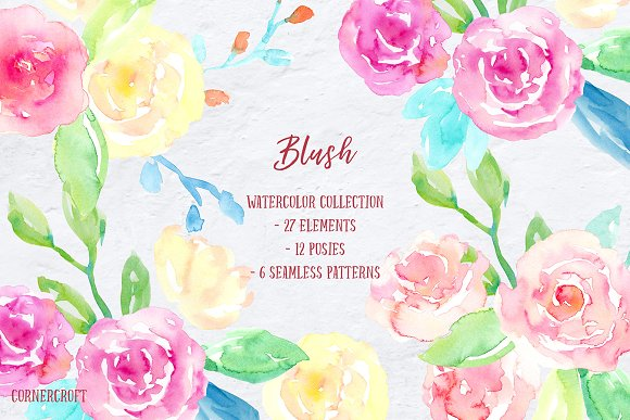 Watercolor Collection Blush-Graphicriver中文最全的素材分享平台