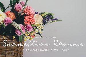 Summertime Romance Script Font