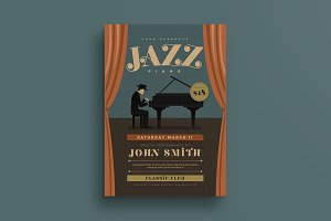 Jazz Piano Concert Flyer