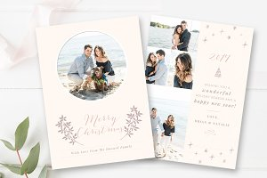 5x7 Christmas Card Template