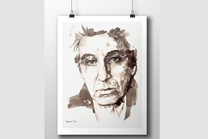 Al Pacino Watercolor Prints