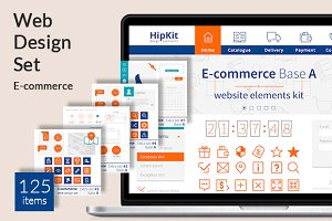 HipKit E-commerce web design set