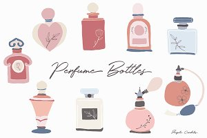 Perfume Bottles - 9 png images