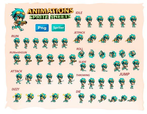 2d game character sprites illustrations creative market