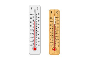 Thermometer set vector illustration.