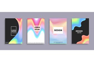 Set of Banners with Colorful Gradient Backdrops
