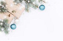 Snowy Christmas composition