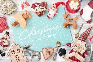 Scene Creator Christmas PSD + JPEG