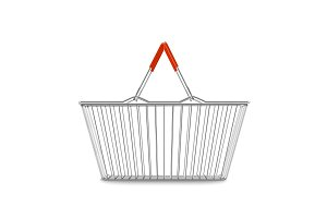 empty shopping basket realistic illustration