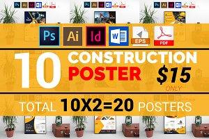 10 Construction Poster Bundle