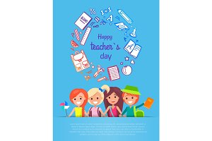 Happy Teacher's Day Vector Illustration