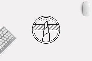 Minimalist Tower Logo