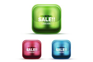 Glass sale icons