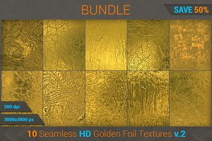 Golden Foil HD Texture Bundle (v 2)