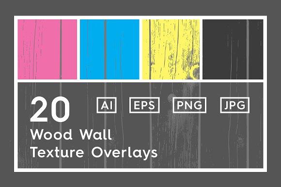 20 Wood Wall Texture Overlays