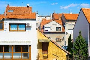 apatment district of Zagreb, Croatia