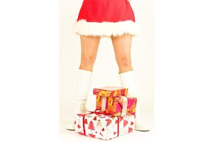 Womann Dressed As Santa Claus - Legs Only