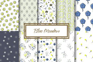 Blue Meadow Floral Patterns