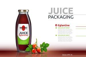 Vector juice englatine drink mokup