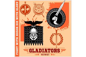 Gladiator Logos Templates Design