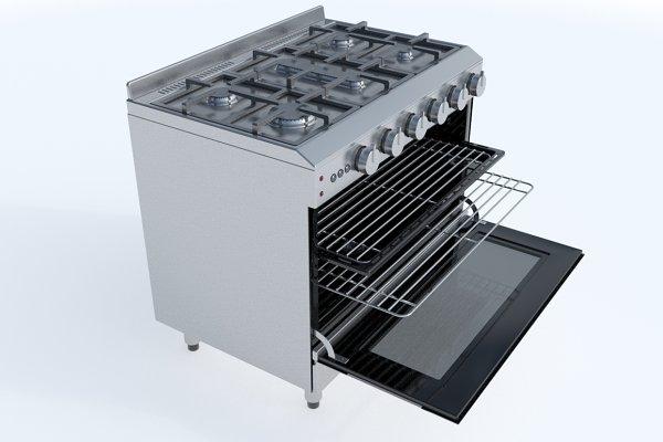 3D Appliances: Graphics834 - 90cm Gas Range Oven