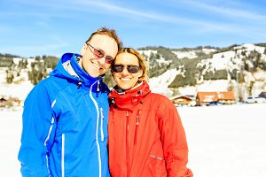 Mature Couple In The Austrian Alps