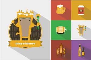 King of Beers Character and Icons