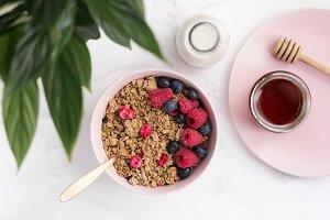 Granola Breakfast Bowl, Milk & Honey