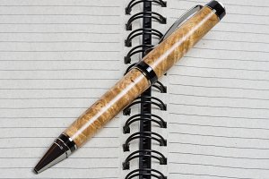 Wooden pen and journal
