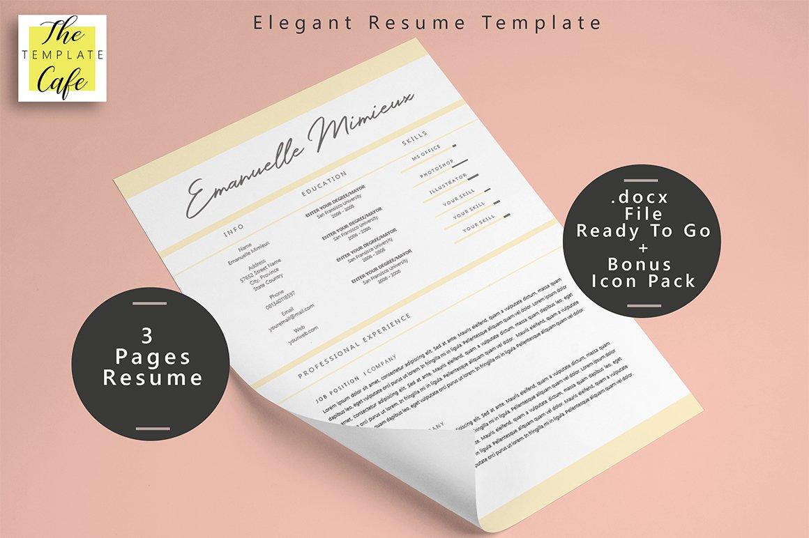 Elegant Resume from cmkt-image-prd.freetls.fastly.net